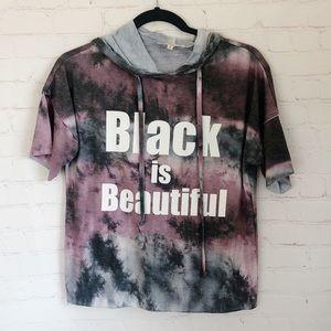[Dear grace with love] black is beautiful hoodie